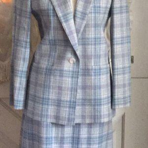 Pendleton 100% wool career suit skirt set plaid